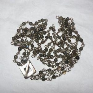 Jewelry - Sterling and Labradorite Bead Chain Multi Strand